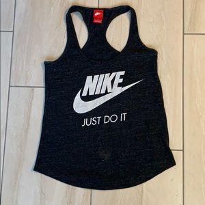 Nike black marled just do it racerback tank top S